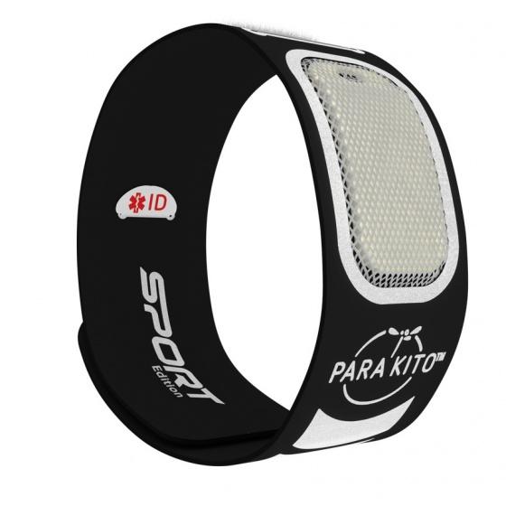 Sản phẩm chống muỗi PARA'KITO™ kèm vòng đeo tay thể thao cá tính màu đen