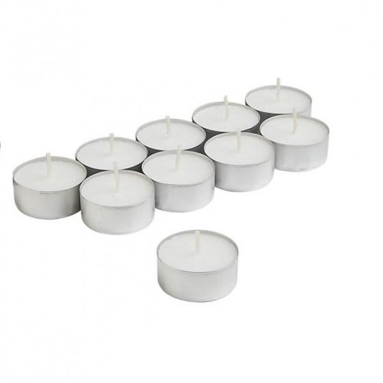 Bộ 10 viên nến Tealight, nến đốt đèn xông tinh dầu cháy 4 giờ - 5 Giờ không mùi không khói