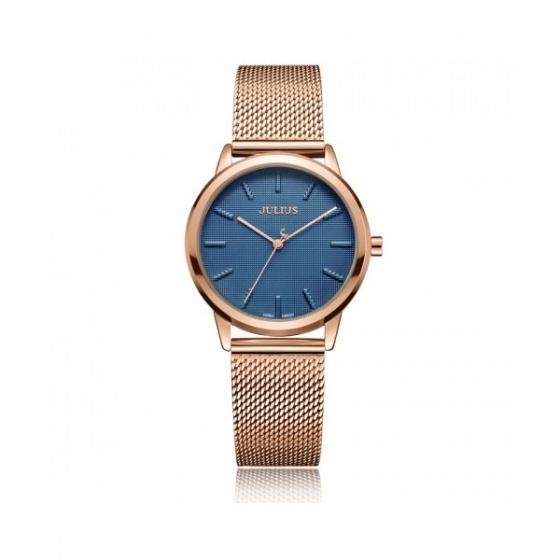 Đồng hồ nữ Julius Hàn Quốc dây thép JA-982LD đồng xanh