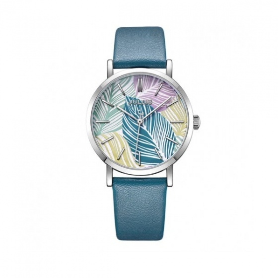 Đồng hồ nữ Julius Hàn Quốc JA-1090B dây da xanh