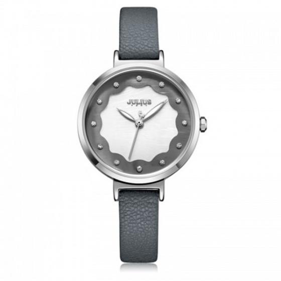 Đồng hồ nữ JA-1098A Julius Hàn Quốc dây da xám