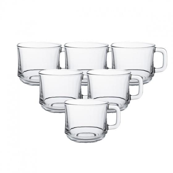 Tách trà thủy tinh chịu lực Duralex lys trắng trong 220 ml (bộ 6)