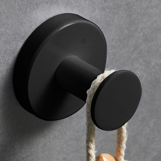 Móc đơn treo đồ phòng tắm inox304 Black series Zento HC6801