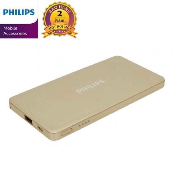 Pin dự phòng Philips DLP6101GD 10000mAh tích hợp cáp Micro USB + Lightning