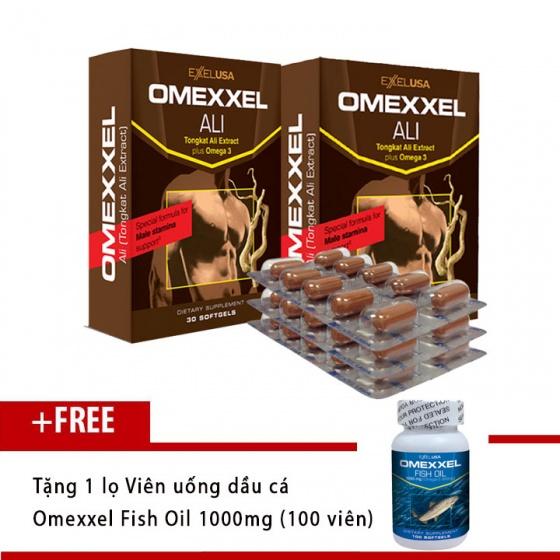 Combo 2 hộp viên uống tăng cường sinh lý nam Omexxel Ali (60 viên) - tặng dầu cá Omexxel Fish Oil 100v