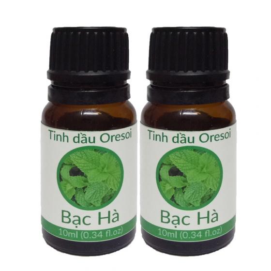 Combo 2 lọ tinh dầu bạc hà hữu cơ 100% nguyên chất (10ml) - Tinh dầu hữu cơ Oresoi