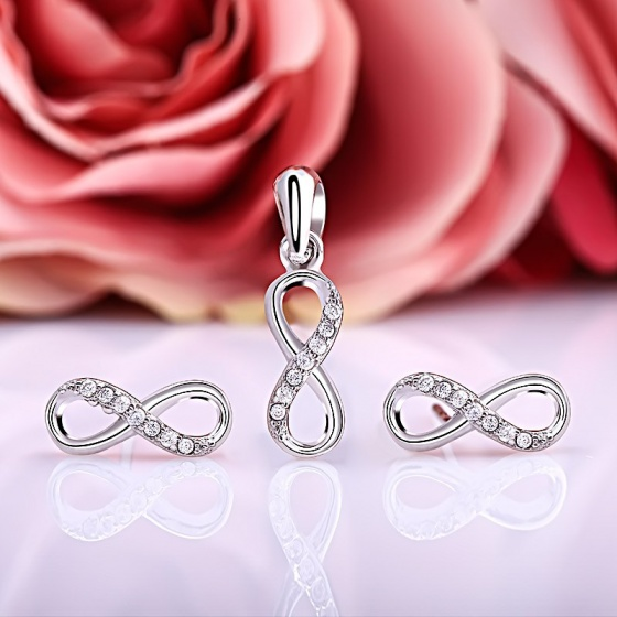 Bộ trang sức bạc Love Eight