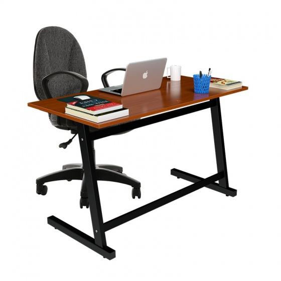 Bộ bàn Rec-Z chân đen mặt cánh gián và ghế IB505 đen có tay