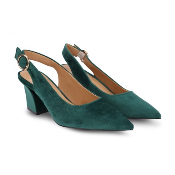 Giày cao gót mũi nhọn khoét mũi chữ V Girlie S33018