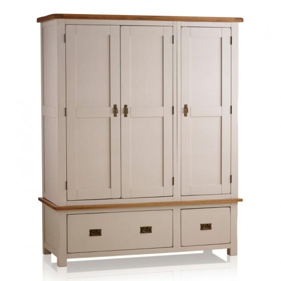Tủ quần áo 3 cánh Kemble gỗ sồi 1m4