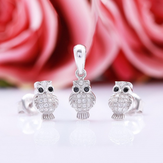 Bộ trang sức bạc Beauty Owl