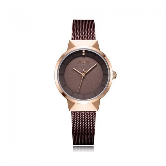 Đồng hồ nữ chính hãng Hàn Quốc Julius JA-1104LD (Nâu)