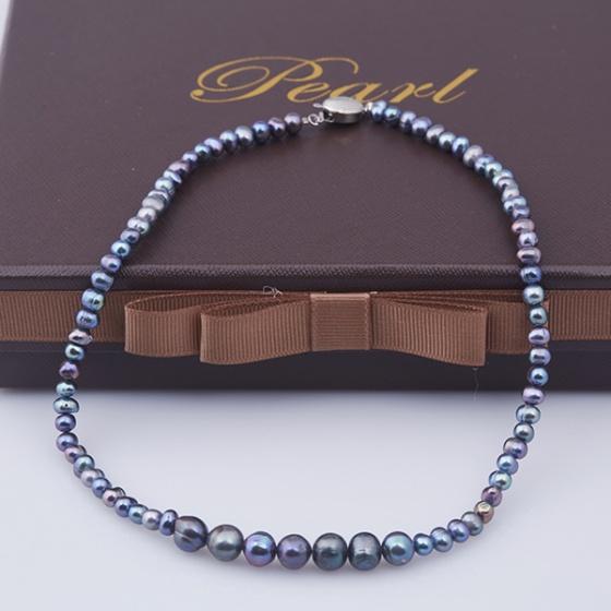 Opal - Vòng cổ ngọc trai đen cao cấp_T01
