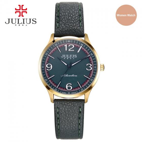 Đồng hồ nữ dây da chính hãng Julius Hàn Quốc JA-940LD (Xanh rêu)