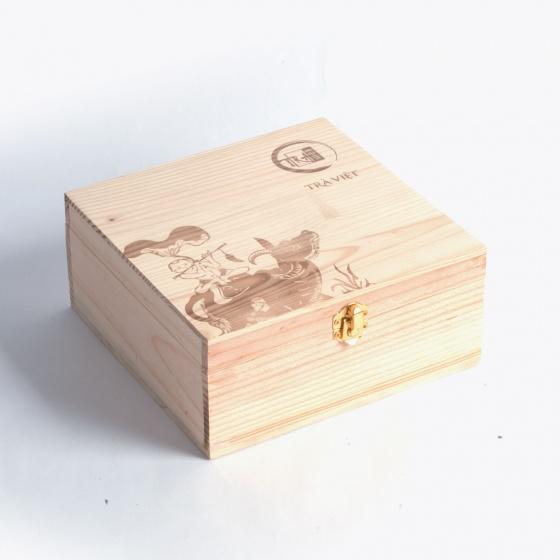 Trà Việt - Hộp quà tặng trà gồm 2 loại trà xanh giúp thanh lọc,giảm cân,detox cơ thể trà ô long, cổ thụ