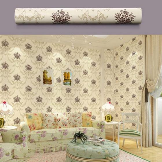 Combo 5m giấy decal cuộn hoa hồng cổ điển BINBIN DT64