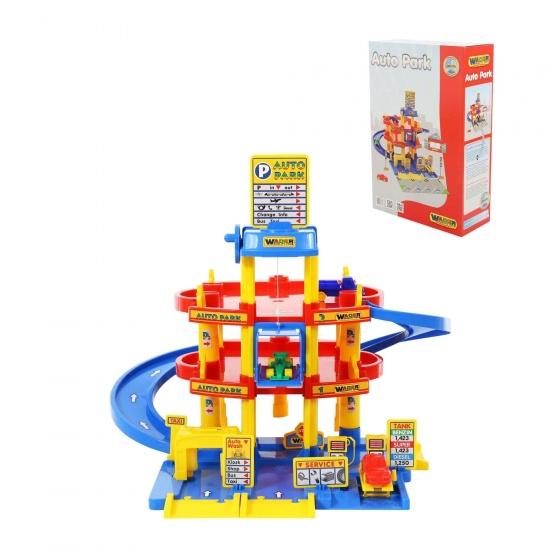 Bộ đồ chơi bãi đỗ xe 3 tầng Wader Quality Toys