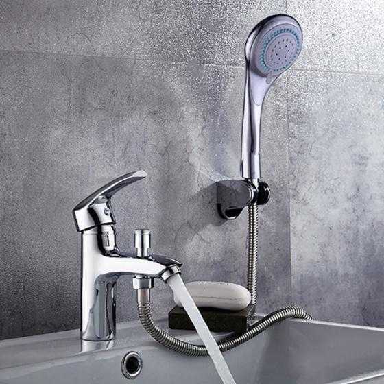 Bộ vòi chậu lavabo kết hợp sen tắm nóng lạnh ZT2045