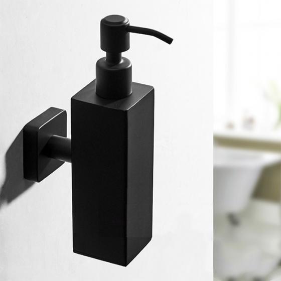Bình xà phòng nước gắn tường inox304 Black series HC6814
