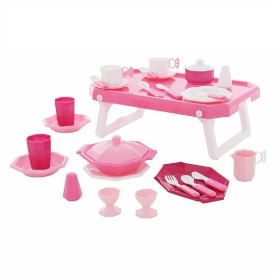 Bộ đồ chơi nấu ăn Retro 29 chi tiết kèm bàn Wader Quality Toys