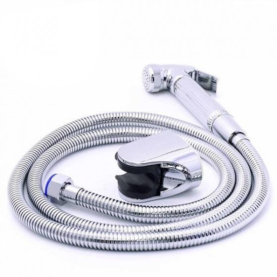 Bộ vòi xịt vệ sinh bằng đồng, Eurolife EL-X02 (trắng bạc)