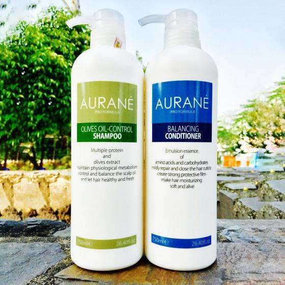 Combo dầu gội trị gàu và dầu xả dinh dưỡng Aurane