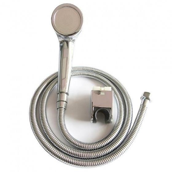 Bộ tay dây sen siêu tăng áp 1 chế độ phun nước Eurolife EL-112SH (trắng bạc)