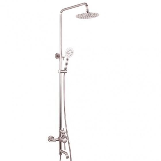 Bộ sen cây tắm đứng nóng lạnh Inox SUS 304 Eurolife EL-S909 (trắng vàng)