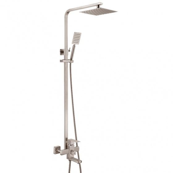 Bộ sen cây tắm đứng nóng lạnh Inox SUS 304 Eurolife EL-S908 (trắng vàng)