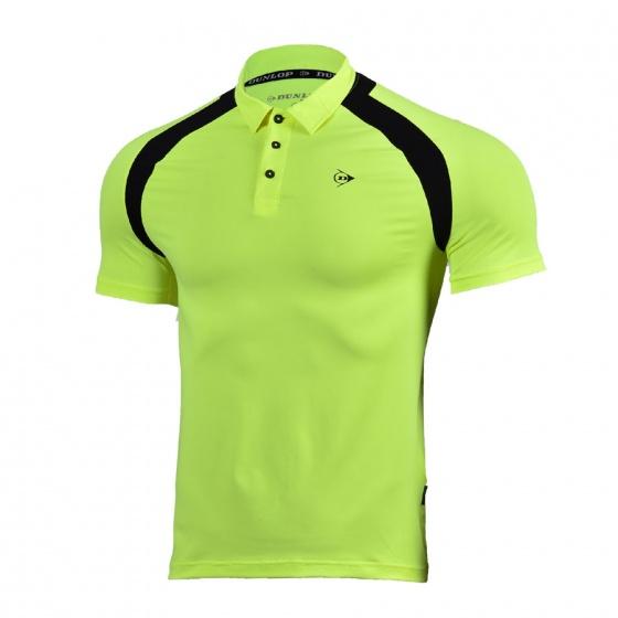 Áo tennis nam Dunlop - DATES8091-2-NG (Xanh neon)