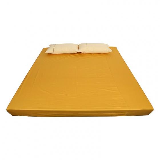 Ga bọc đệm và vỏ gối đơn ( 1 màu ) 180 x 200 cm - vàng mơ