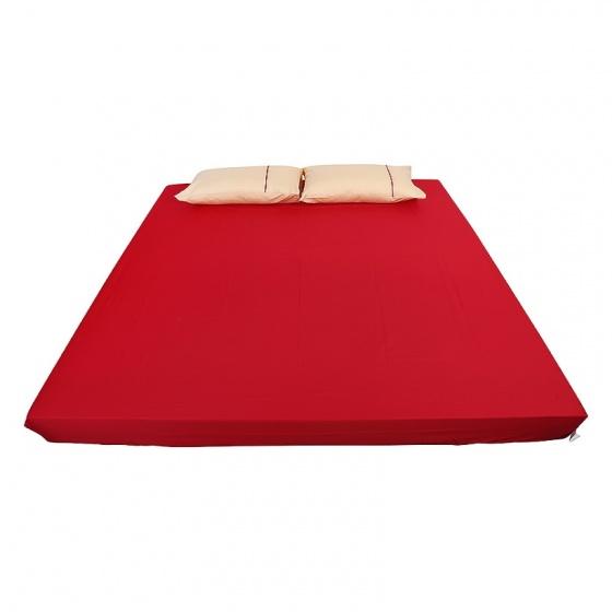 Ga bọc đệm và vỏ gối đơn ( 1 màu ) 180 x 200 cm - đỏ