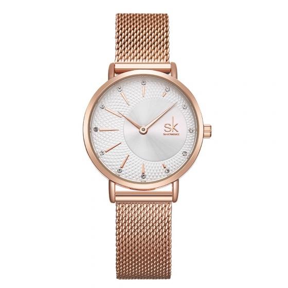 Đồng hồ nữ chính hãng Shengke UK K0093L-02 Vàng hồng mặt trắng