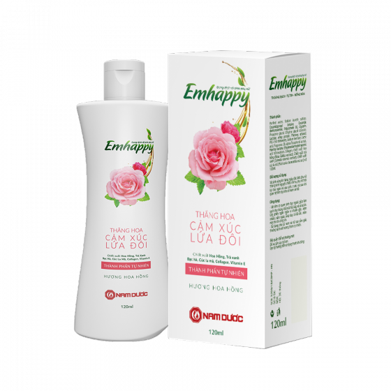 Dụng dịch vệ sinh phụ nữ Emhappy - Hương hoa hồng