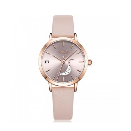 Đồng hồ nữ Julius Hàn Quốc JA-1076C dây da ( hồng)