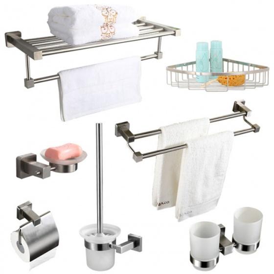 Bộ 7 phụ kiện phòng tắm inox 304 hc339