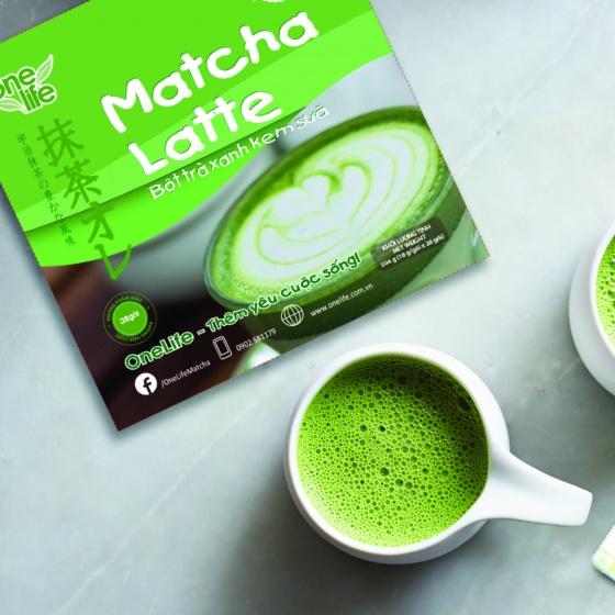Trà sữa Nhật Bản- matcha latte Onelife (bột trà xanh kem sữa) - Hộp 28 gói