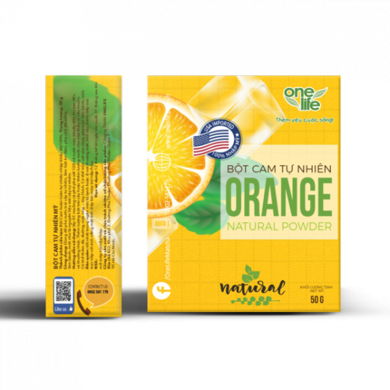 Trái cây sạch -  Bột cam tự nhiên Onelife (nhập khẩu 100% từ Mỹ) - Hộp 50gr