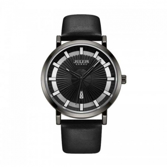 Đồng hồ nam jah-103a julius hàn quốc dây da (đen)
