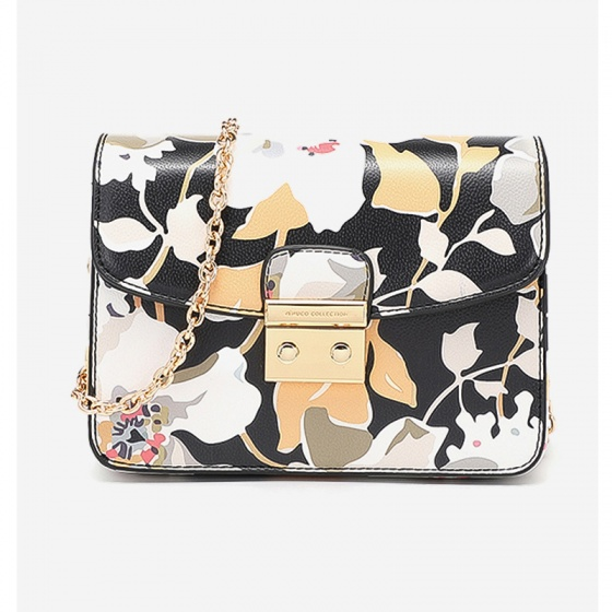 Túi hộp mini - Hoa xám - D09B155