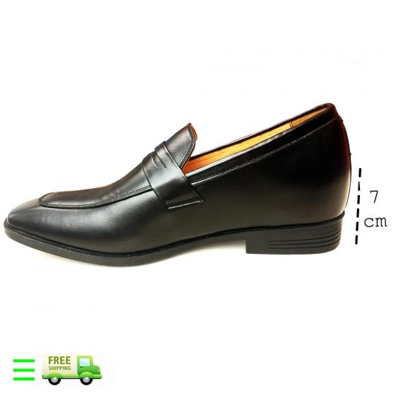 Giày lười tăng chiều cao da bò...