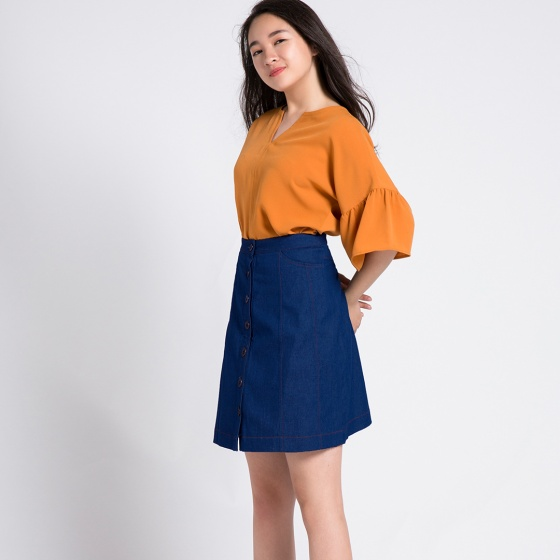 Váy ngắn miniskirt Hity SKI028 (denim)