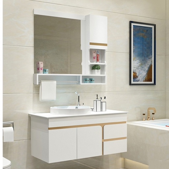 Bộ tủ, chậu, bàn đá, kệ gương Lavabo ZT-LV890 (sản phẩm chỉ ship tại HCM và Hà Nội)