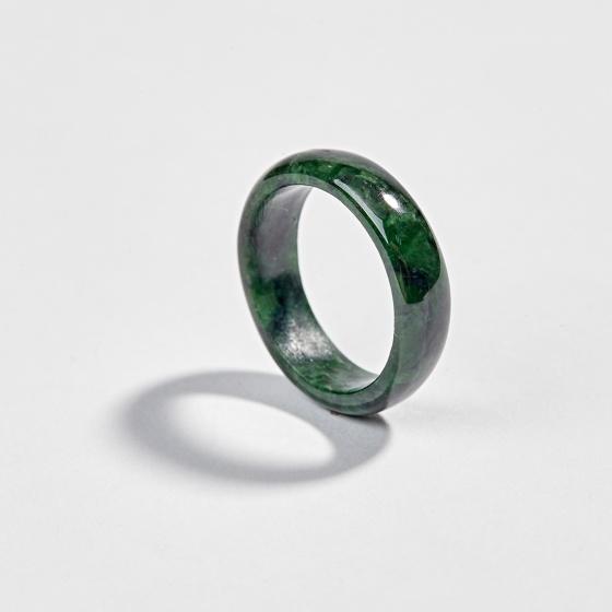 Nhẫn phong thủy nữ đá cẩm thạch sơn thủy aaa Ngọc Quý Gemstones