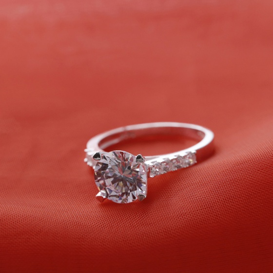 Opal Nhẫn bạc đính đá sang trọngT05