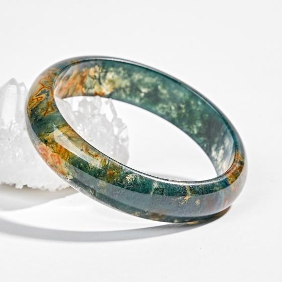 Vòng tay phong thủy đá thiên nhiên băng ngọc thủy tảo huyết ni 55 Ngọc Quý Gemstones