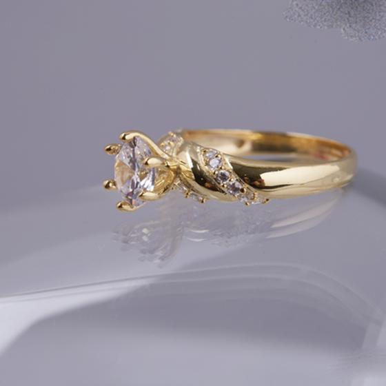 Opal Nhẫn bạc cao cấp phủ vàng đính đá T05