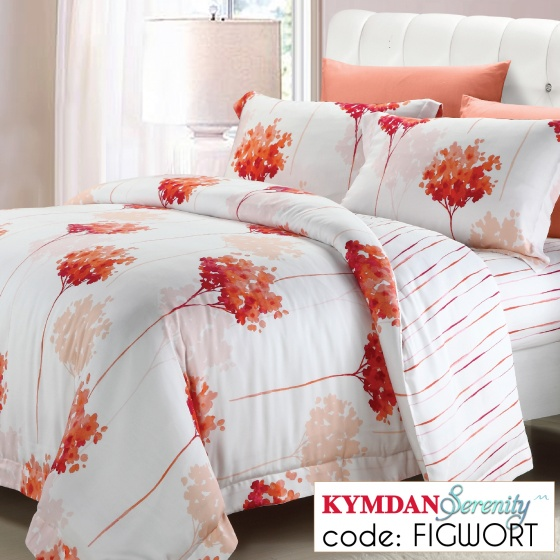 Drap Kymdan Serenity 160 x 200 cm (drap + áo gối nằm + vỏ mền) FIGWORT