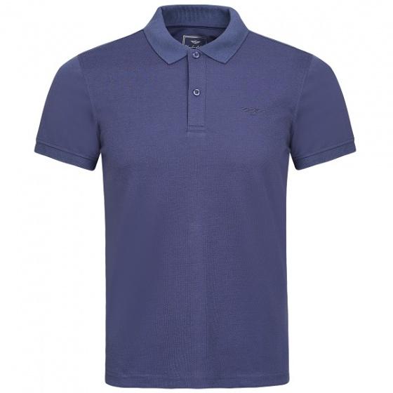 Áo thun nam standardMen cổ dệt dáng suông spl05 - xanh tím