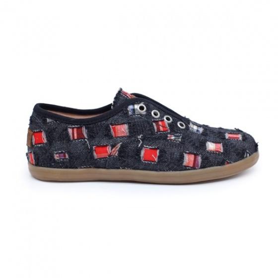 Giày sneaker nữ Sutumi O002 - Đen nhạt